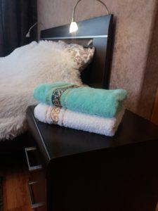 Бельё и полотенца на 2-4 персоны.